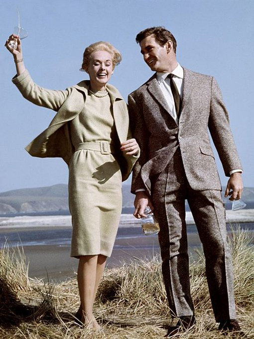 Tippi Hedren and Rod Taylor on the set of The Birds. Happy Birthday
