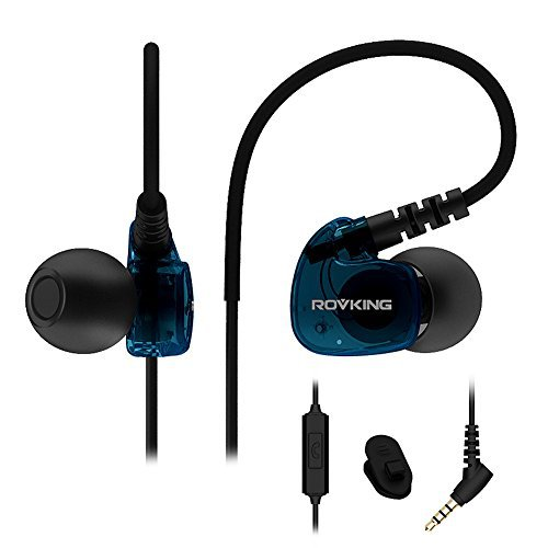 #digital #win #music #shopping ##giveaway #follow #newdeals Rovking Sweatproof Sport Workout Headphones In Ear Bass Exercise Earpods with Remote and Mic Noise Sound Isolating Sports Earbuds for Running Gym Jogging Earphones for iPod iPhone Samsung HTC Blue #rt