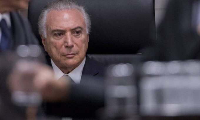 Temer reage ao saber de morte de Teori: 'Meu Deus do céu!'.  Ele estava em reunião com senador José Medeiros.  https://t.co/4s17L430v0