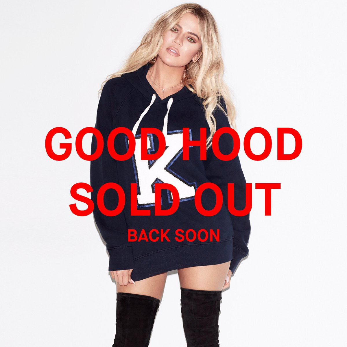You guys!!!!! My @goodamerican Letter Hoodie has COMPLETELY sold out!! https://t.co/fYrea0up35