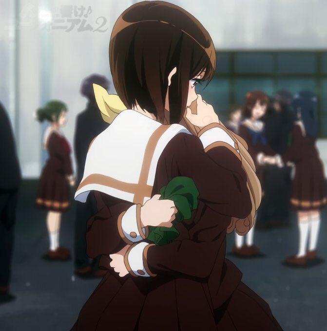 せ:先輩の  あの日の笑顔も思いも全部  受け継げ優子  緑布をよすがに#ユーフォかるた #一日一首 #anime_eu