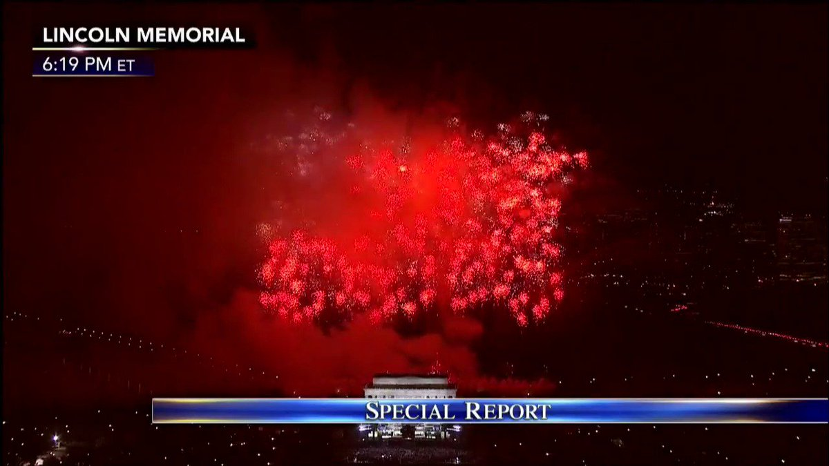 "FIREWORKS at the ""Make America Great Again"" Welcome Concert. #Trump45"