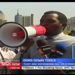 Medical students hold peaceful demonstrations in Nairobi to show support for striking doctors