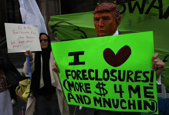 The foreclosure crisis haunted the hearing for Trump's Treasury nominee https://t.co/afWWIhUfSJ