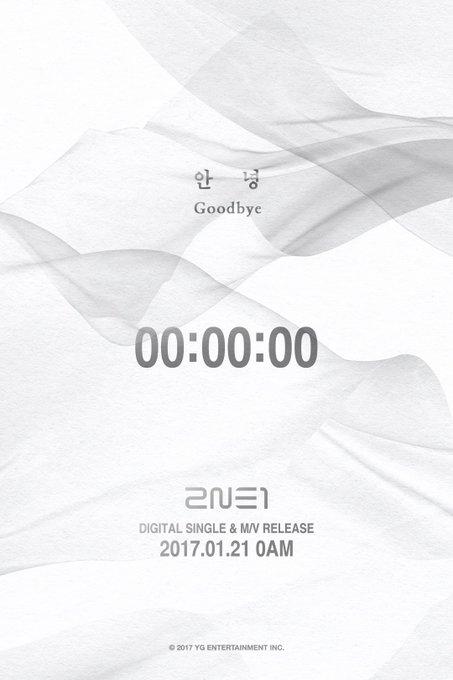 [2NE1 - '안녕(GOODBYE)' COUNTER] originally posted by https://t.co/XZQ3IOI9MY #2NE1 #투애니원 #안녕 #GOODBYE #DIGITALSINGLE #MV #20170121 #MIDNIGHT
