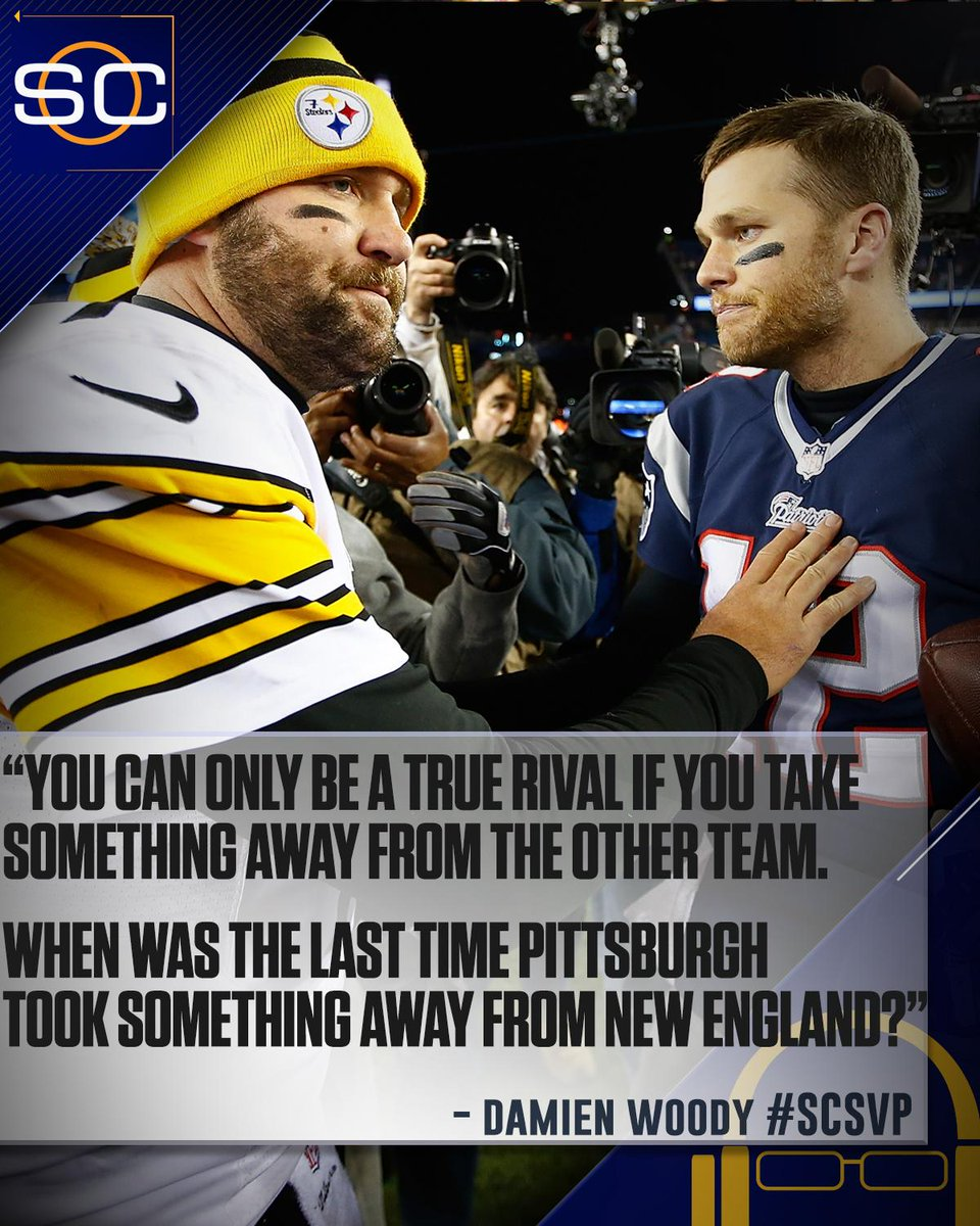 .@damienwoody on if the Patriots view the Steelers as equals. #SCSVP