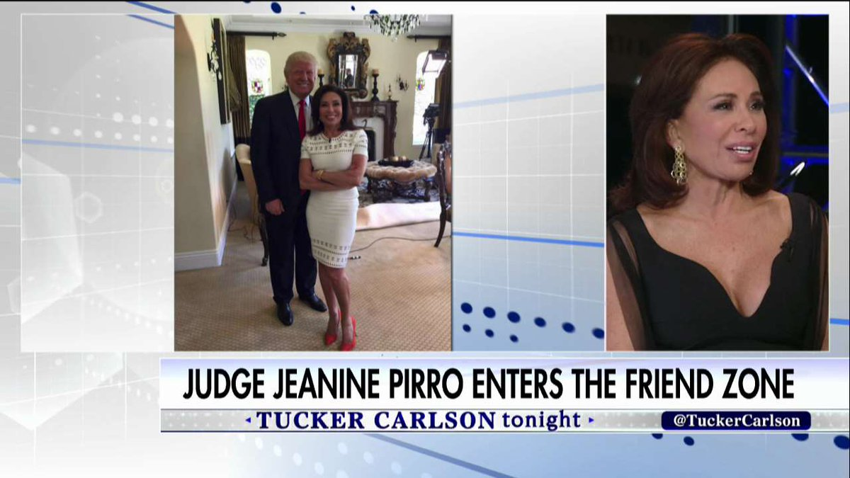 """.@JudgeJeanine: """"I'm telling you #Tucker as sure as I'm sitting here, I think that [@realDonaldTrump] is going to make America great again."""""""