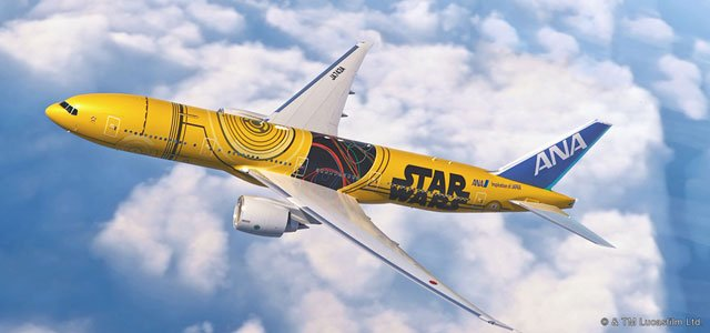 ANA C-3PO aircraft to be Star Wars themed inside: headrest cover, paper cup and cabin crew apron https://t.co/Qd2n6Rf5Wj