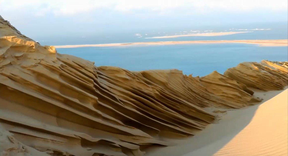 Le froid et le vent ont sculpté la dune du Pilat, et le résultat est époustouflant https://t.co/xQw0GXfudS