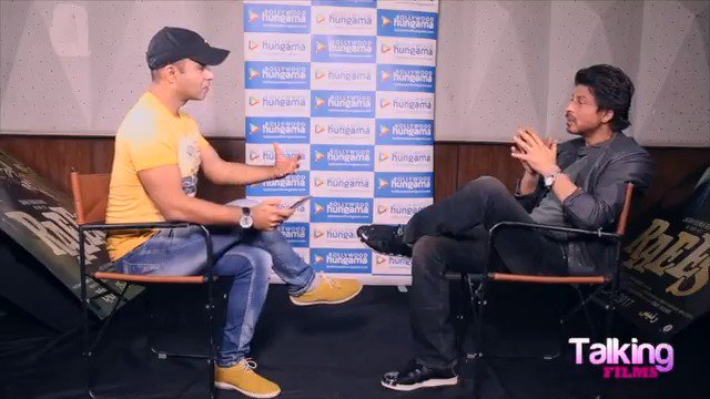 Rapid fire with @iamsrk One favorite quote you think can INSPIRE anyone anytime? #TalkingFilms #Raees