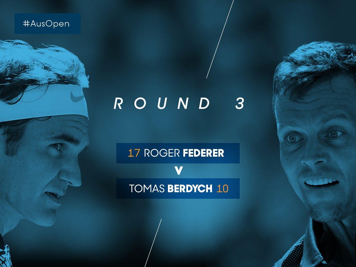 Up next on RLA...H2H #Federer leads #Berdych 16-6#AusOpen
