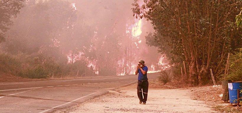 Conaf asegura que incendio de Pumanque es el más agresivo en los últimos 50 años