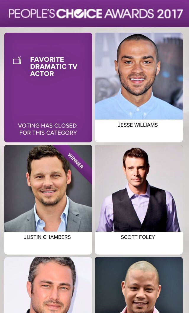 Congratulations @7JustinChambers on your #peopleschoiceawards win!!! So well deserved, my friend!