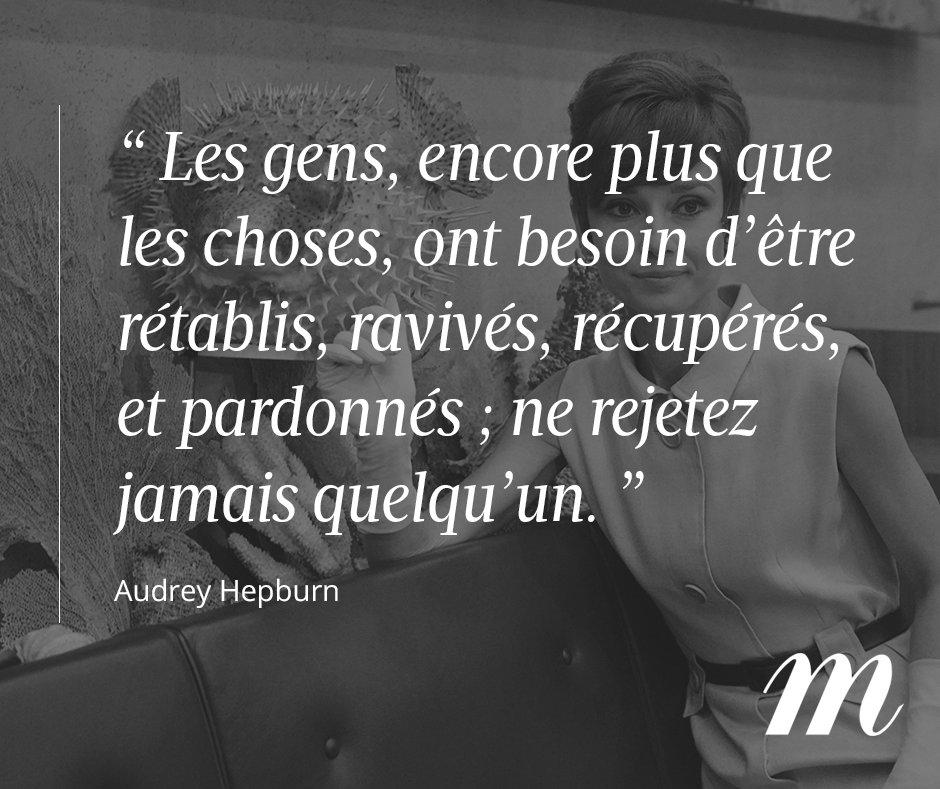 Il y a 24 ans #AudreyHepburn nous quittait