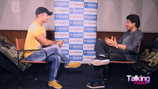 """""""Filmmaking has to be a theater experience"""" @iamsrk #Raees #TalkingFilms"""