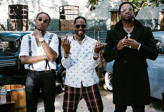 2 Chainz travels back to the Prohibition era with Gucci Mane and Quavo in the video for 'Good Drank.' Watch: https://t.co/2tRtQvOHw8