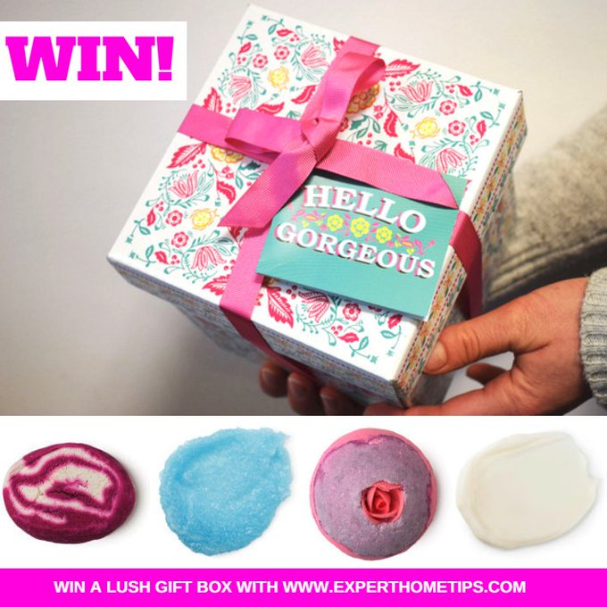 WIN  a LUSH 'Hello Gorgeous' gift set.?F+RT!??FreebieFriday comp s.