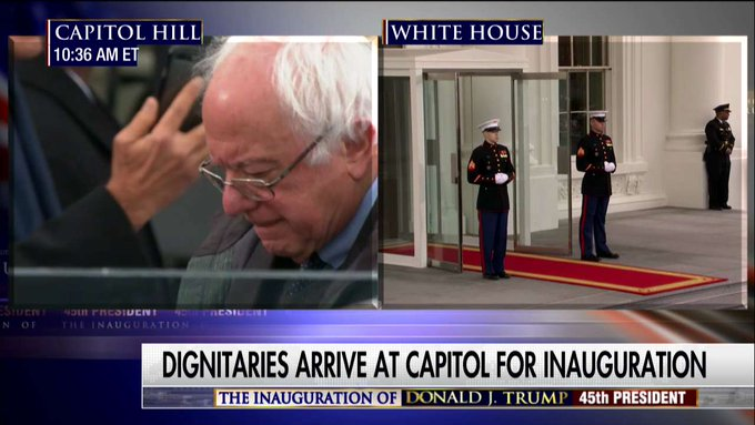 .@BernieSanders arrives at #Inauguration. #Trump45