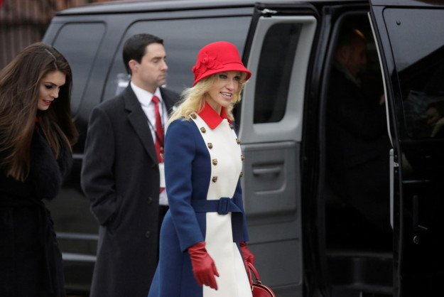 """Kellyanne Conway wore, what she called, """"Trump Revolutionary Wear"""" for the inauguration https://t.co/ba8oIT9pwP"""