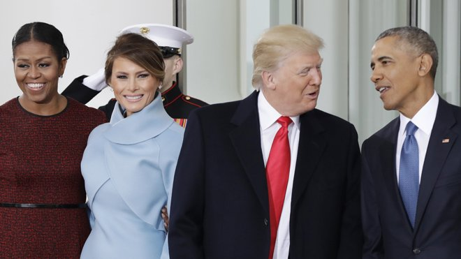 PASSING THE TORCH: Trumps, Obamas meet as new president vows 'robust' first 100 days https://t.co/HScjTfx0sk #InaugurationDay