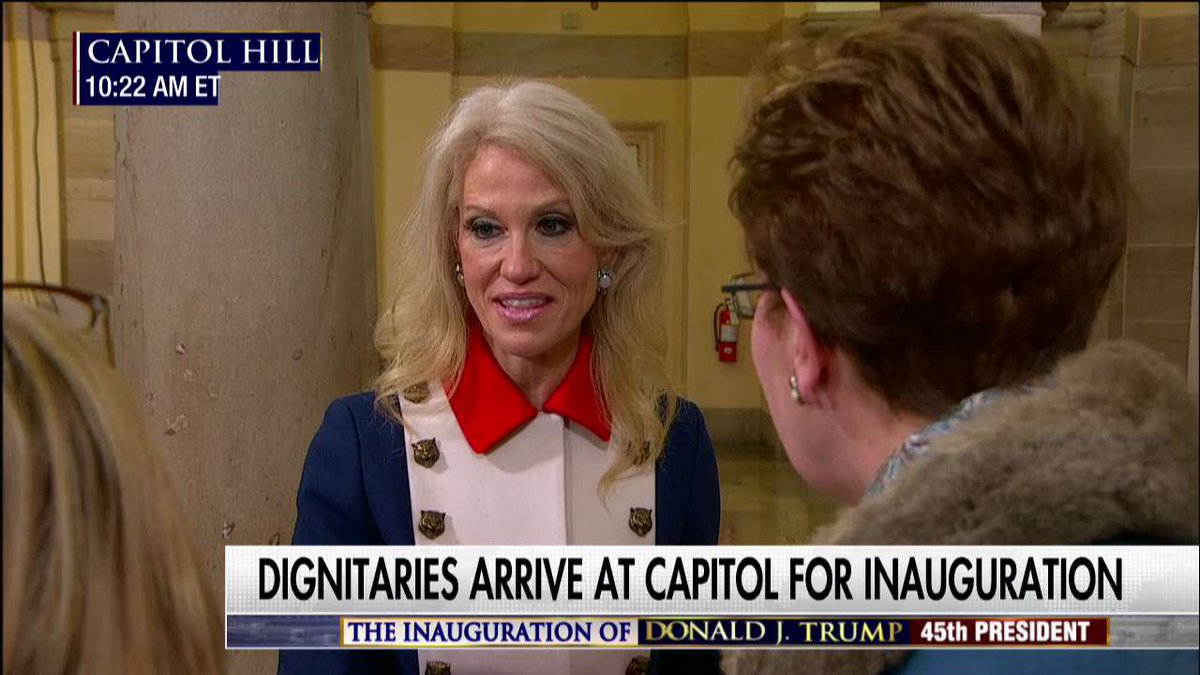 .@KellyannePolls on Capitol Hill for #Inauguration. #Trump45