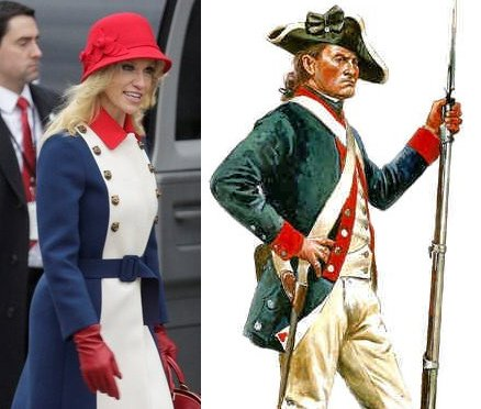 Kellyanne Conway dressed as the era Trump wants to take America back to. #InaugurationDay