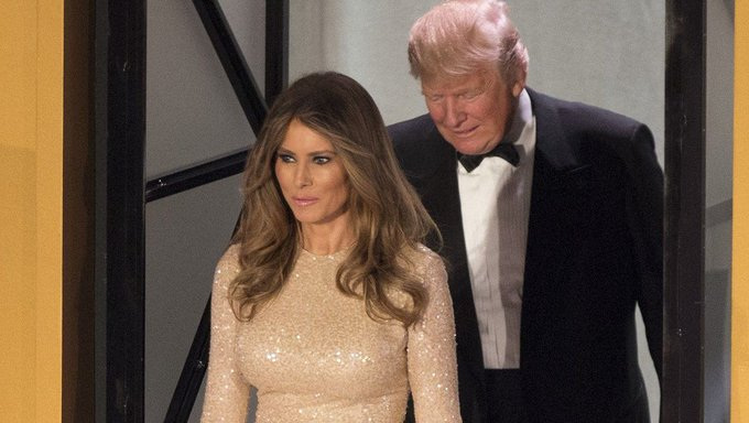 Watch Melania Trump refuse to let Donald dictate her at inauguration event https://t.co/EGv7Jo8HPM
