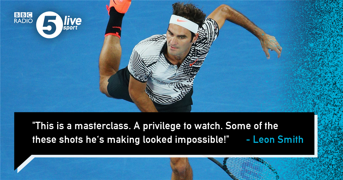 If you're a Roger Federer fan you should tune into this.....🎾👂#AusOpen