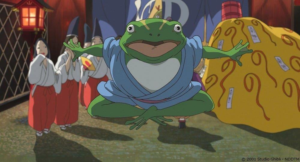 ■千と千尋お得情報メモ 青蛙さんを演じたのは我修院達也さん🐰「ハウルの動く城」のカルシファーさん役でも有名ですよねー😆💗