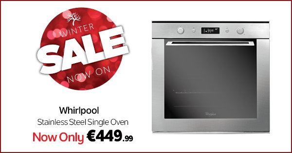Cook up a storm with this Whirlpool Stainless Steel Single Oven for just €449.99! https://t.co/932IJuy0Ed https://t.co/3a7X5QgCDm