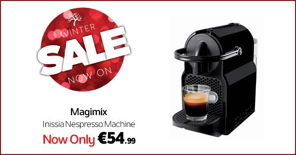 No morning routine is complete without a Nespresso Machine! €54.99 this weekend! Buy Now -> https://t.co/1jfWdfRCYk https://t.co/rHHg1kfGuX