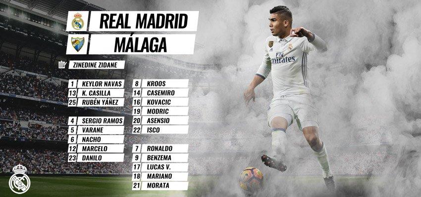 ✅📝⚽️ #RMLiga¡Estos son los 19 convocados para el partido de mañana frente al @MalagaCF!#HalaMadrid