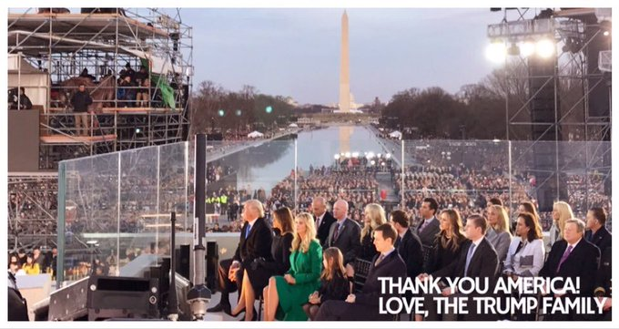 On behalf of the entire Trump family, THANK YOU AMERICA!🇺🇸🇺🇸🇺🇸