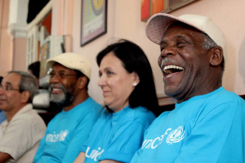 "😄! Goodwill Ambassador @mrdannyglover, ""it's NOT too old for…"" supporting and getting to know up close the work of @UNICEFCuba"
