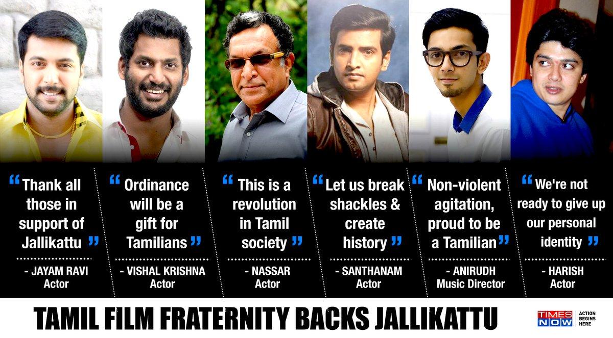 Tamil film fraternity backed the #MakkalMovement. Watch the debate about jallikattu, tonight at 9 PM on @thenewshour