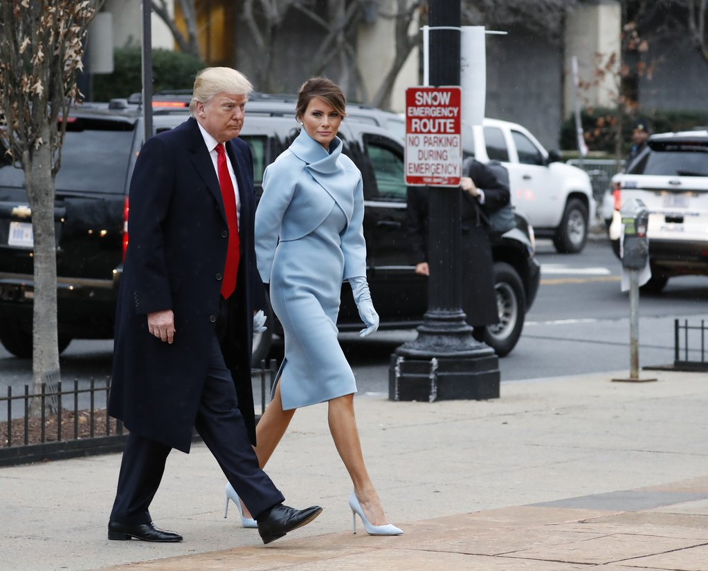 .@MelaniaTrump is wearing @RalphLauren this morning. #Inauguration2017