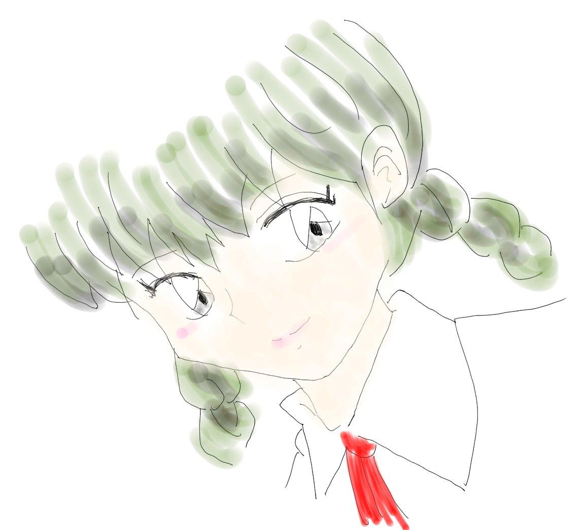 #高橋留美子5作品版深夜の真剣お絵描き60分一本勝負お題「真宮  桜」RINNEが大好きすぎて2つ目を投稿します。境界の
