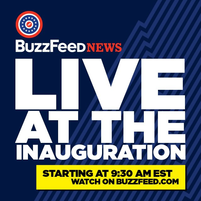 It's happening: Join @BuzzFeedNews for live coverage of Trump's inauguration https://t.co/6FCZtILTUu