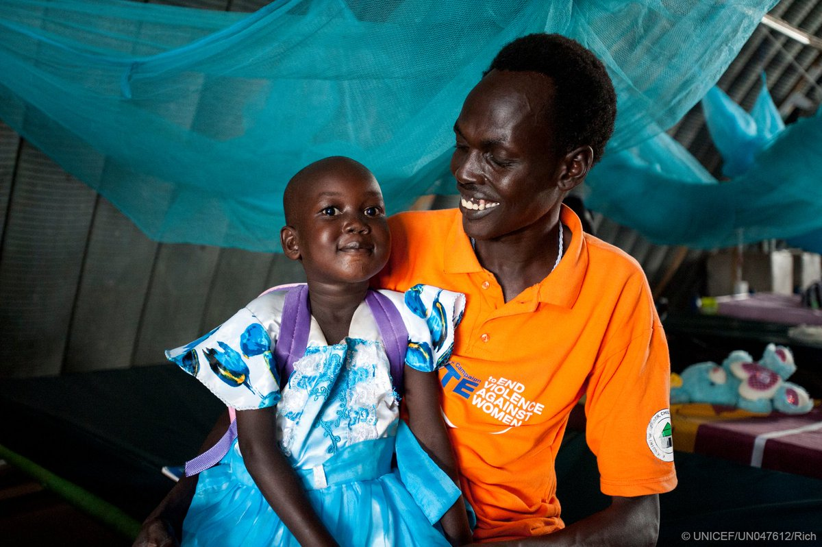 Remember Nyajime? She's on her way to recovery after almost dying from malnutrition. #foreverychild, health. @unicefssudan