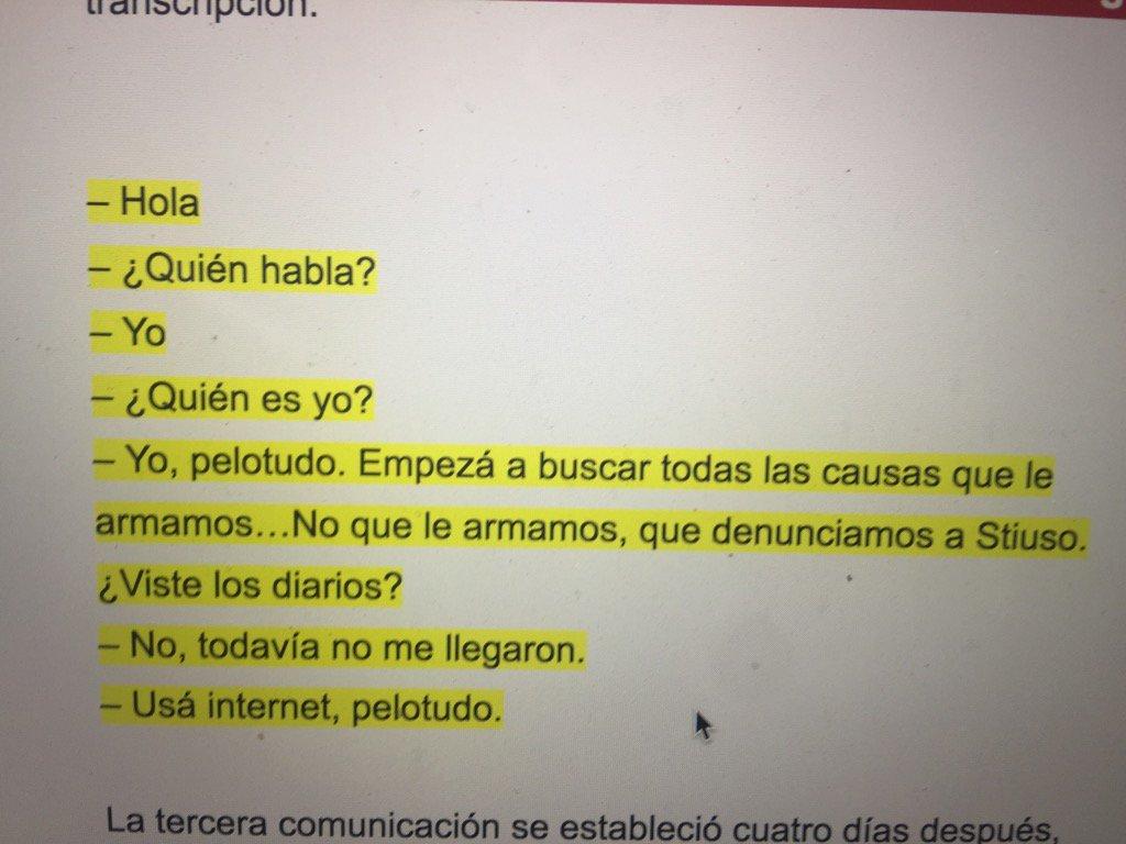 Confirmado , este es el dialogo que obra en la justicia entre Cristina y Parrilli