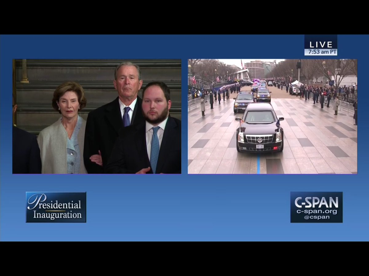 Looks more like  state a funeral than #inaugurationday @cspanwj @cspan https://t.co/RCkC7NGsmR