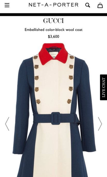 Kellyanne Conway's $3600 @gucci coat was designed to celebrate the city of ... London. #Inauguration
