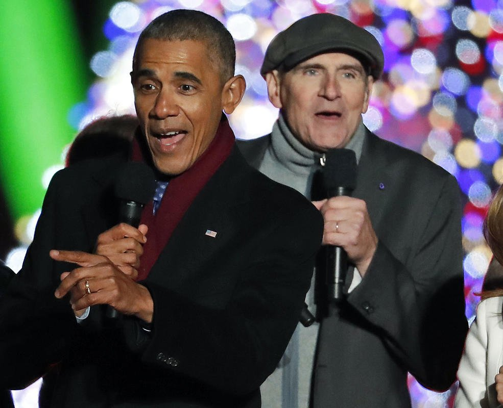 'I've seen rain:' James Taylor bemoans end of Obama era