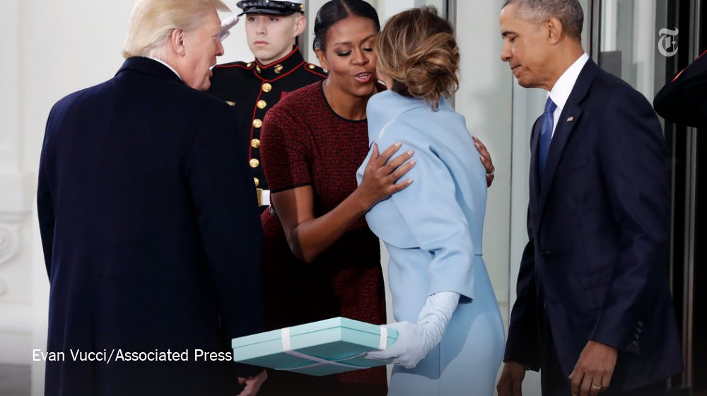 What's in the Tiffany box that Melania Trump gave to Michelle Obama?