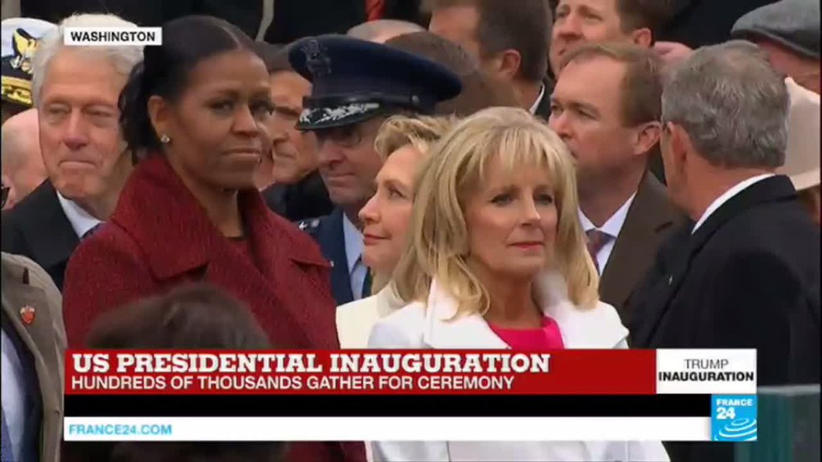 VIDEO -  US Presidential inauguration: Michelle Obama arrives at Capitol Hill