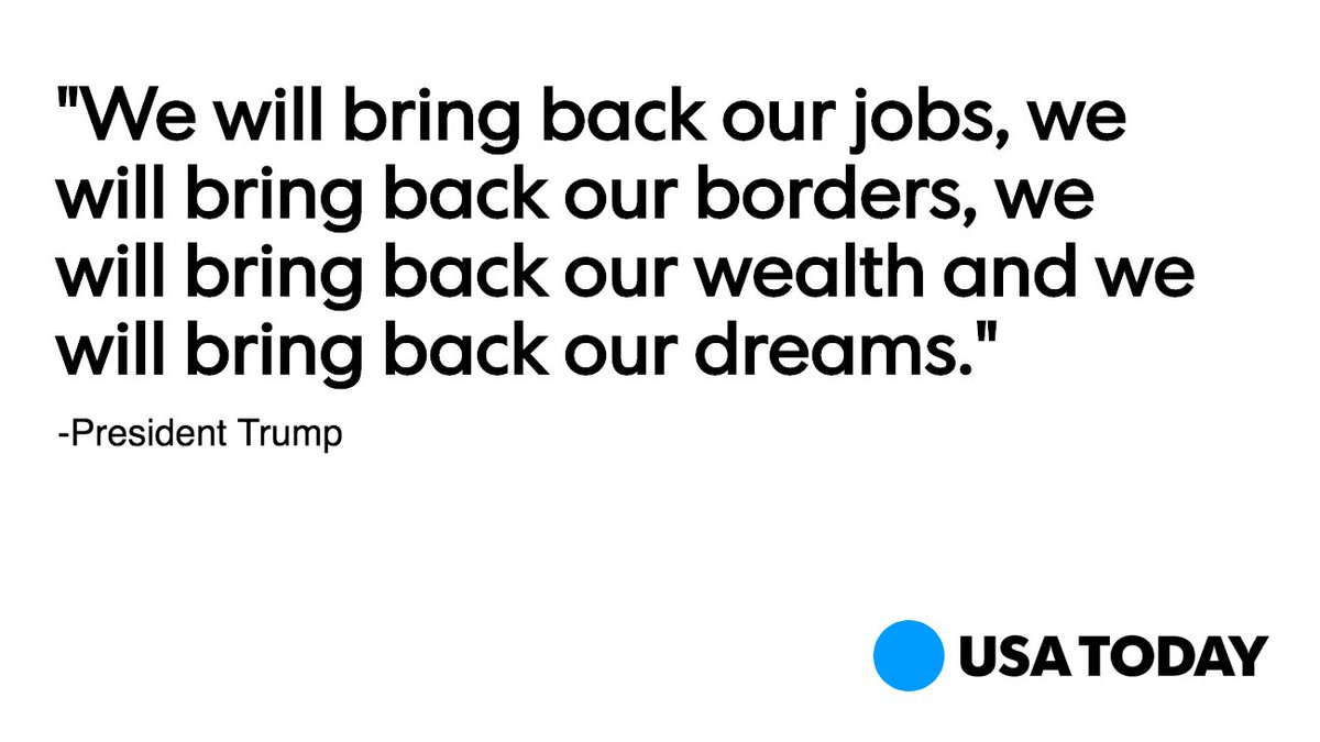 Donald Trump promised to bring jobs, borders, wealth and dreams back