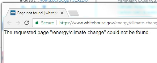 RIP https://t.co/wiKFuzfiUY climate webpage.