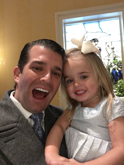 Got greeted by the cutest Trump supporter just now after an amazing ceremony at The Capital.