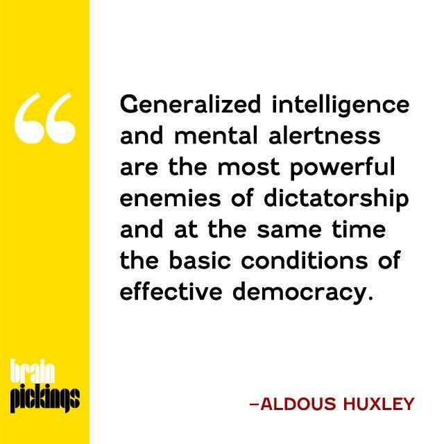 Aldous Huxley on democracy: https://t.co/YkniGWfBFq