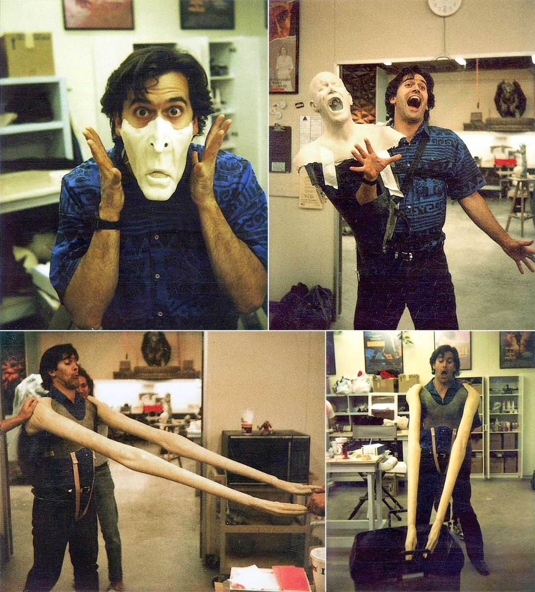 #BehindTheScenes old-school #VFX in the makeup dept with Bruce Campbell on Army of Darkness https://t.co/wVGZpgmQKX